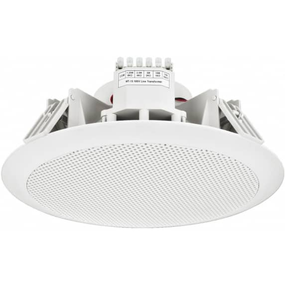 Monacor EDL-156 IP65 Rated Ceiling Speaker for Spa's, Wetrooms and Bathrooms