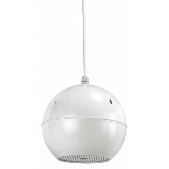 Monacor EDL-412/WS Water Resistant 10W Pendant Speaker - White