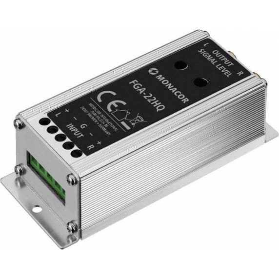 Monacor FGA-22HQ - Speaker-Level to Line-Level Signal Converter