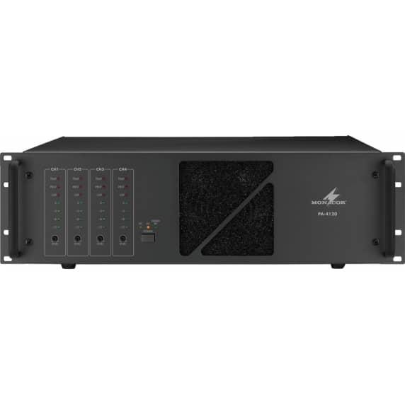 Monacor PA-4240 960W 100V Line Power Amplifier - 4 x 240W