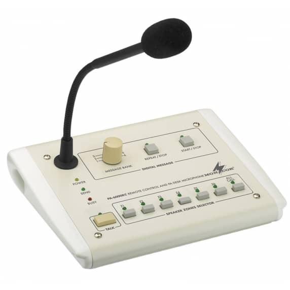 Monacor PA-6000RC Paging Desktop Microphone for PA-6600