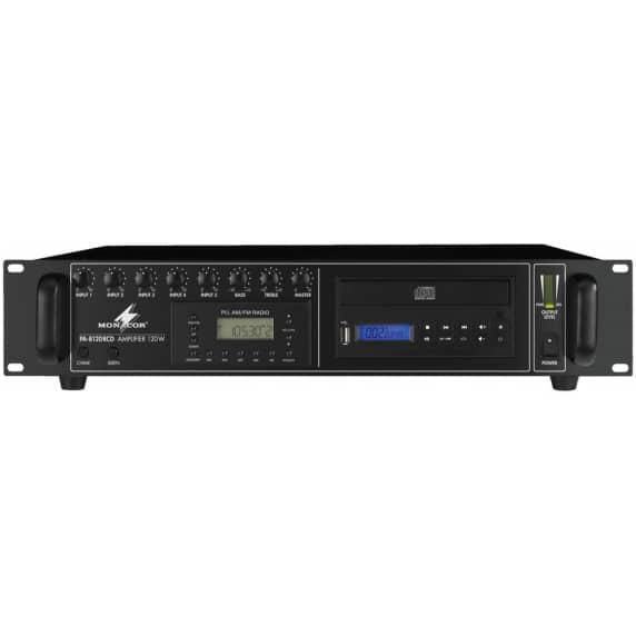 Monacor PA-8120RCD 120W Mixer Amplifier with CD/MP3/Radio