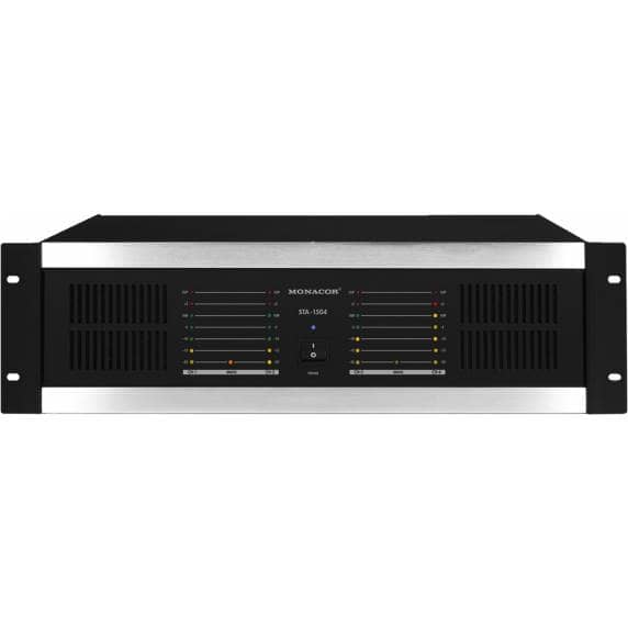 Monacor STA-1504 4-Channel 640W Power Amplifier