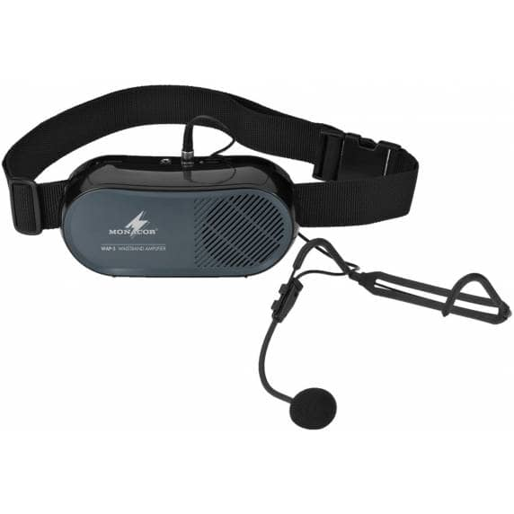 Monacor WAP-5 Waistband Amplifier with Headband Microphone