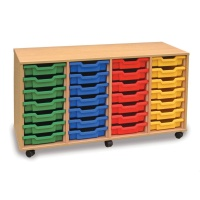 Monarch 28 Shallow Tray Storage Unit