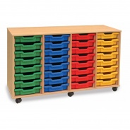 Monarch 32 Shallow Tray Storage Unit
