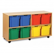 Monarch 8 Jumbo Tray Wooden Storage Unit