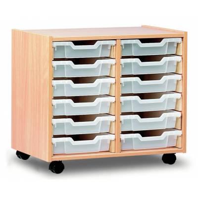 monarch 12 shallow tray storage unit. Black Bedroom Furniture Sets. Home Design Ideas