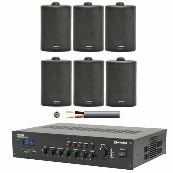 Multi Area Restaurant Music Sound System 6 X Background