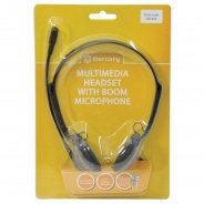 Multimedia Headset with Boom Microphone