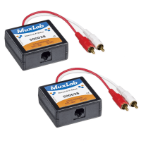 Muxlab Stereo RCA/Phono HiFi Balun PAIR - Audio over CAT5E/6 Adapter