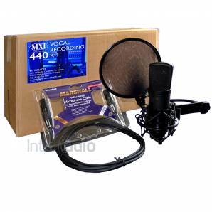 MXL 440 Vocal Recording Kit - Mic, Shockmount & Pop Filter