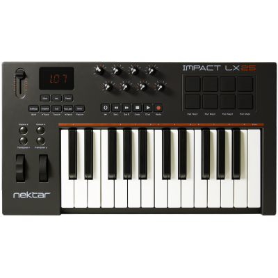 nektar impact lx25 usb keyboard with daw control nektar from inta audio uk. Black Bedroom Furniture Sets. Home Design Ideas