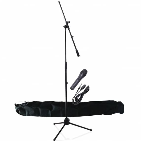 NJS Microphone Kit with Stand, Clip & 3m XLR Cable