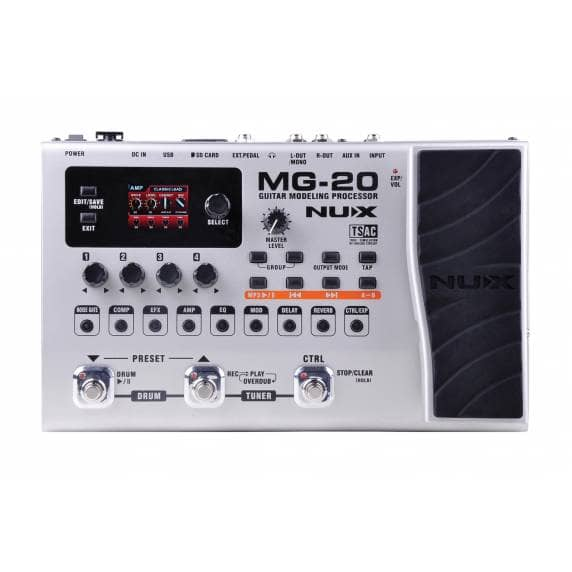 NUX MG-20 Modelling Guitar Effects Processor Pedal (B-Stock)