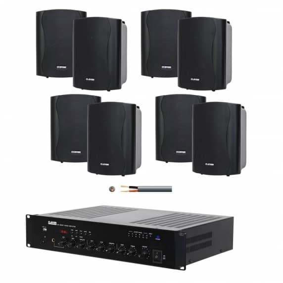 Office Sound System 8 X 4 Wall Speakers