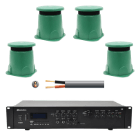 Inta Audio Outdoor Garden Speaker System - 4x Garden Speakers + Amp + Cable