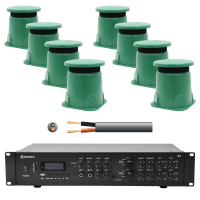 Inta Audio Outdoor Garden Speaker System - 8x Garden Speakers + Amp + Cable
