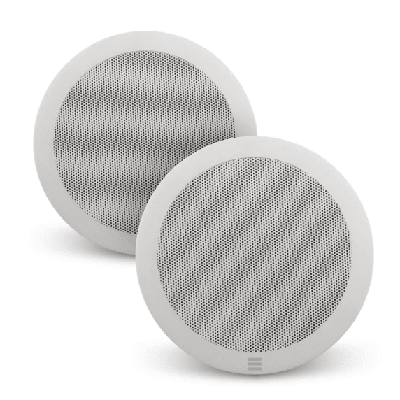 Pair of Apart CM5EH Waterproof Ceiling Speakers for Kitchen & Bathrooms