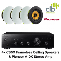 Inta Audio Pioneer A-10-K Home Hi-Fi Sound System - 4x Ceiling Speakers