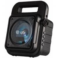 QTX Portable Bluetooth Party Speaker with Karaoke Microphone
