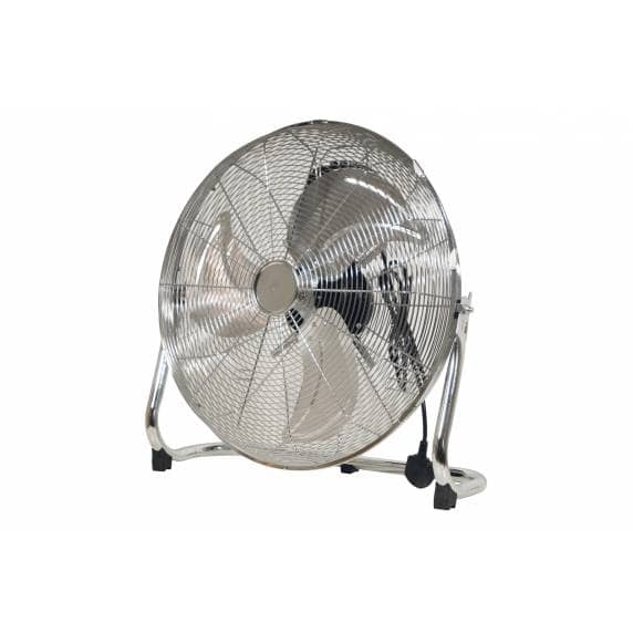 "Prem-I-Air 18"" Heavy-Duty Air Circulator with Chrome Finish"