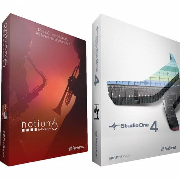 PreSonus Artist Bundle - Notion 6 and Studio One 4 Artist (Serial Download)