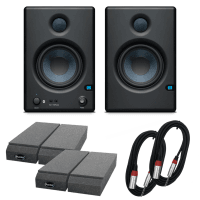 PreSonus Eris E4.5 BT Active Bluetooth Speakers with Auralex Pads & Cable Bundle