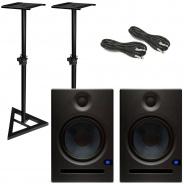 Presonus Eris E8 Studio Speakers plus Stands Bundle