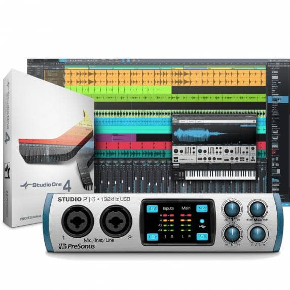 Presonus Studio 2|6 USB & Studio One Pro 4 Bundle