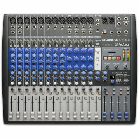 PreSonus StudioLive AR16 18-Channel USB Mixer