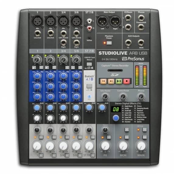 PreSonus StudioLive AR8 8-Channel USB Mixer
