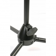 "Pro Microphone Stand with Boom with cable clips and 3/8"" to 5/8"" adaptor"
