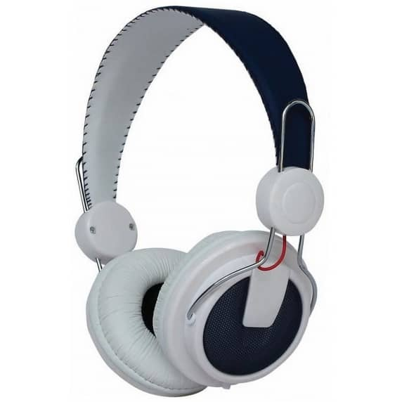 Pro-Signal HiFi Stereo Headphones, On-Ear, Closed-Back (White/Blue)