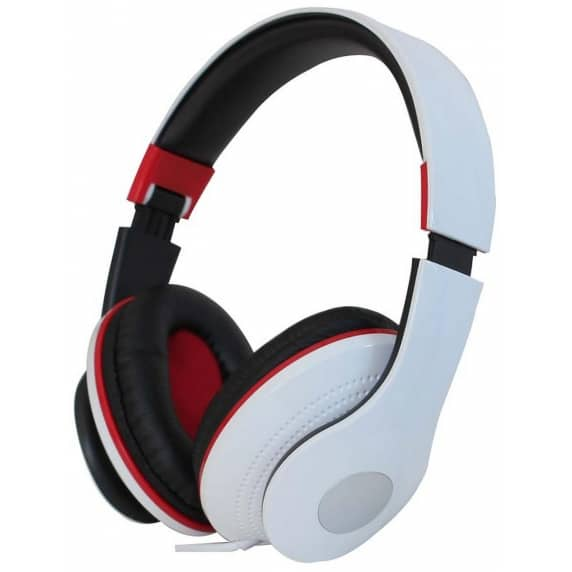 Pro-Signal White Deluxe Foldable Headphones