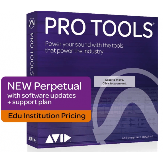 Pro Tools 2021 Perpetual License with 1-Year Upgrade & Support Plan EDU (Serial Download)