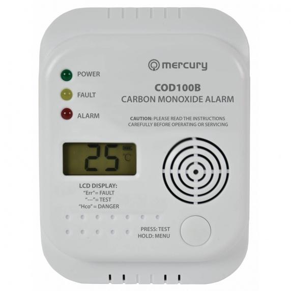 Carbon Monoxide Alarm / Detector - COD100B - Digital Display