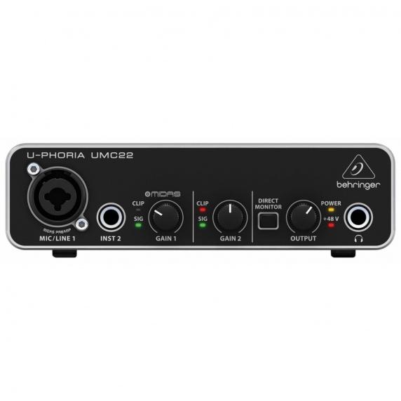 Behringer UMC22 U-PHORIA Audio Interface