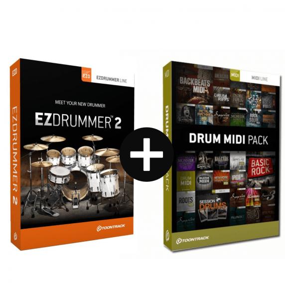 Toontrack EZdrummer 2 & Drum Midi Pack of Choice (Serial Download)