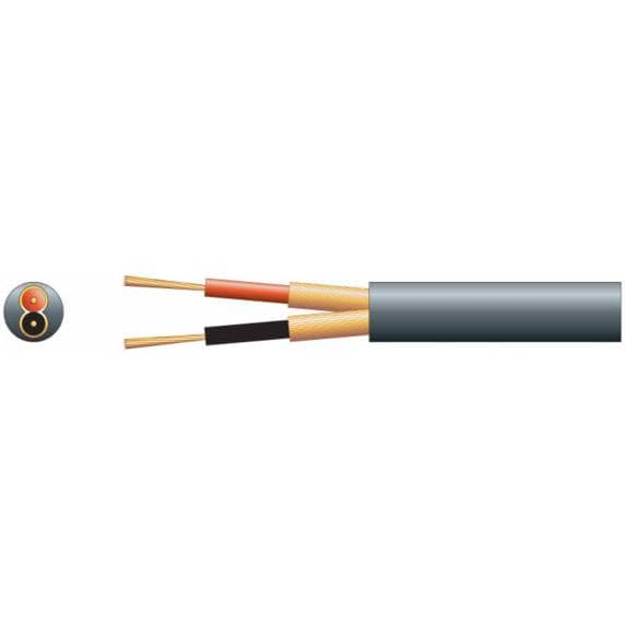 2-Core Screened Mic/Instrument Cable, Black - 25m (82ft) Cut