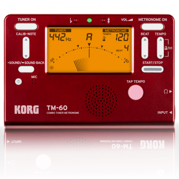 Korg TM-60 Limited Edition Combo Tuner/Metronome - Marvel Red