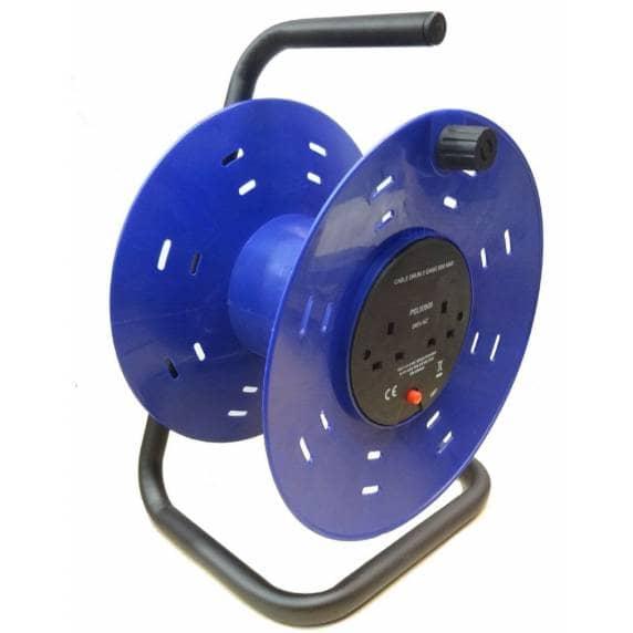2-Gang Plastic Empty Cable Reel Drum, 50m - PEL00900