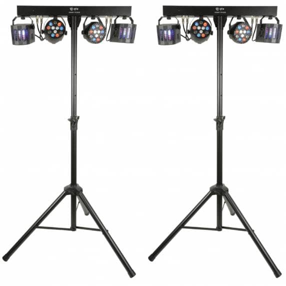 2 x QTX Derby FX Bar LED Party Bar with Stand