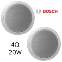 "2x Bosch 6"" Compact Ceiling Speakers, 20w, 4ohms"