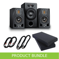 Adam Audio 2.1 System - A3X Monitors & Sub7 with Pads & Cable
