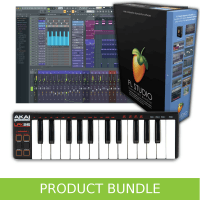 Inta Audio Akai LPK25 and FL Studio 20 Educational Recording Bundle