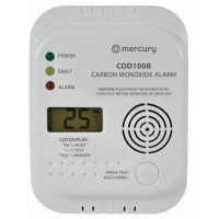 Mercury Carbon Monoxide Detector - Wall Mount kit Supplied - Room Temperature