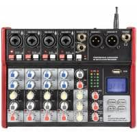 Citronic CSM-6 Compact Mixer with USB/Bluetooth