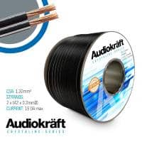AudioKraft Crystaline Series Premium Speaker Cable - 100m Drum