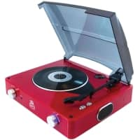 GPO Stylo Record Player USB Turntable Piano Red